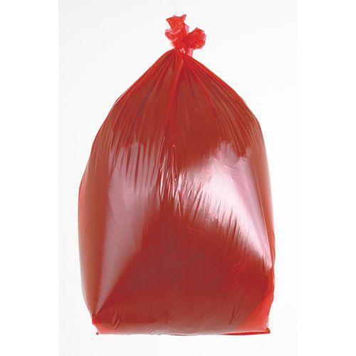 90L Coloured bin bags , red medium duty