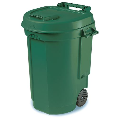 Dustbin 110l with wheels lift top indoor litter bins general purpose - Stickers poubelle exterieur ...