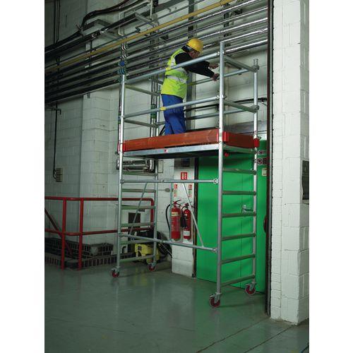 Folding scaffold additional rail pack