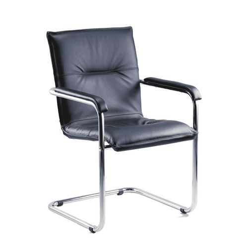 Boardroom / Meeting ENVOY - LEATHER VISITORS CHAIR - PACK OF 2 - -