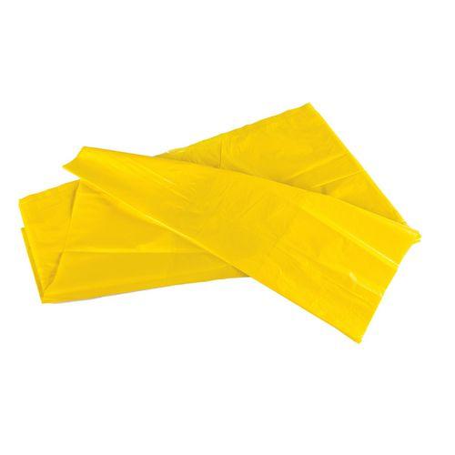 90L Coloured bin bags , yellow medium duty