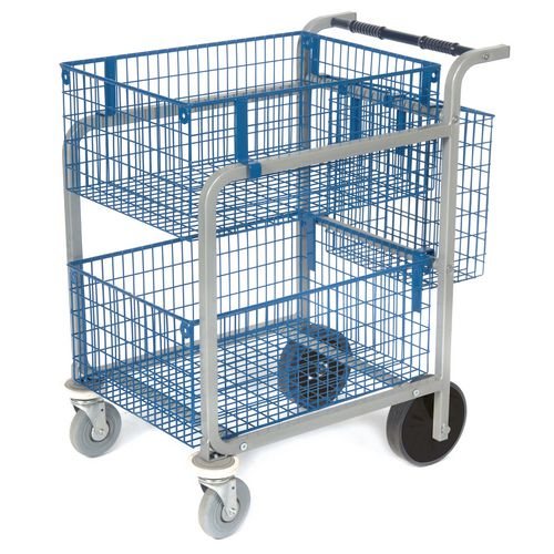 Mailroom trolleys - Largel mail distribution trolley