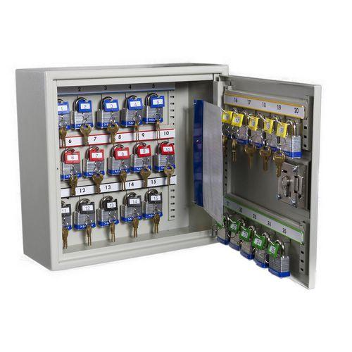 Key Cabinets High security  key and padlock cabinet, 24 key capacity