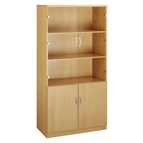 Up To 1200mm High Deluxe combination bookcase