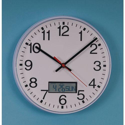 Wall 250MM QUARTZ CALENDAR CLOCK - -