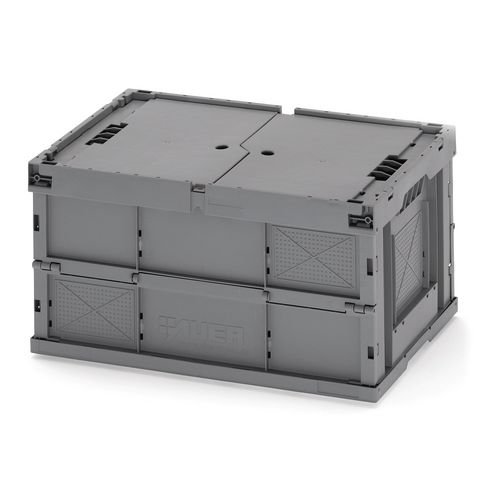Storage Boxes Strong folding box - 65L with lid