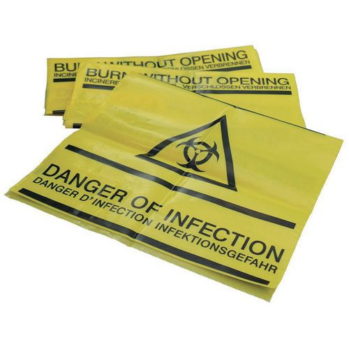 Clinical waste bags - 280 x 200mm, pk50