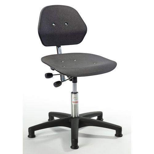Universal industrial chairs - Solid plastic moulded seat