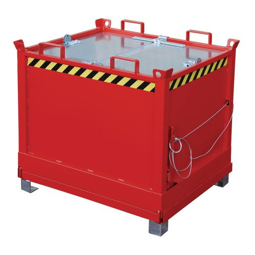 Bottom hinged skips/containers