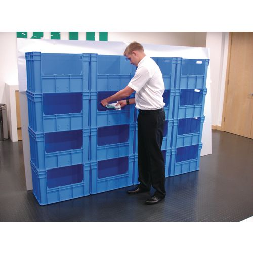 Containers Wall of large heavy duty picking bins, 400mm depth