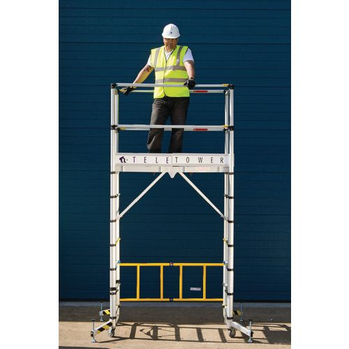Telescopic mobile work platform and tower - Aluminium version