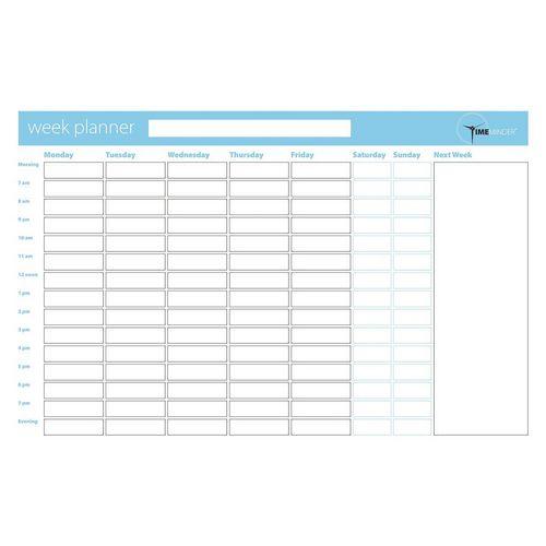 Drywipe Planning Board - Weekly planner