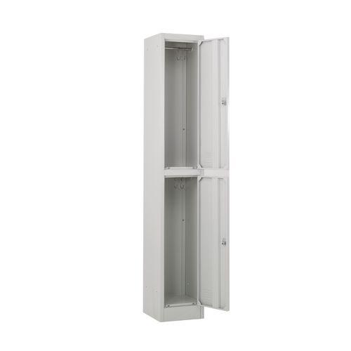Metal locker 1800 x 300 x450 2 door grey door key lock - Standard interior door replacement key ...