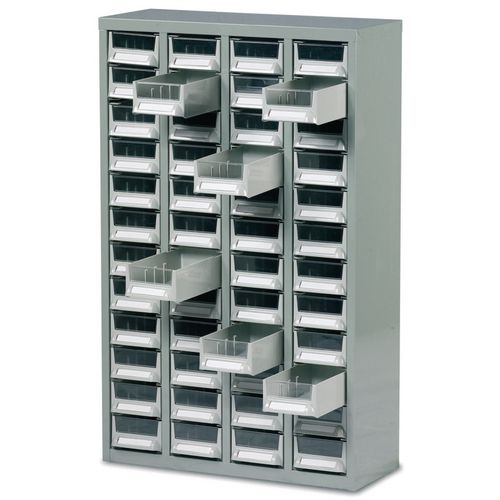 Small Parts Storage Premium steel cabinets with tough ABS drawers - 48 drawers