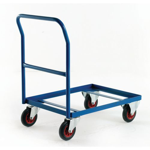Euro container dolly with handle