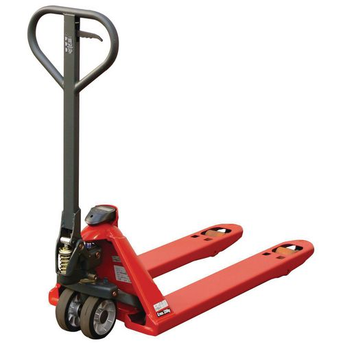 Quick lift load indication pallet truck
