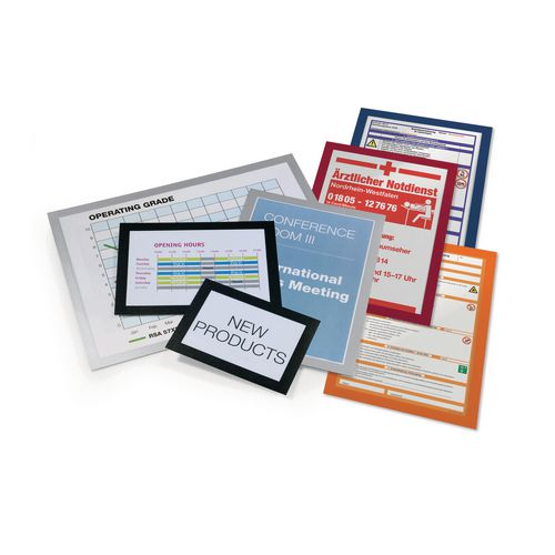 Certificate / Photo Frames Durable Duraframe™ self adhesive poster frame - silver