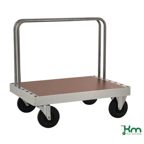 Filing Konga extra heavy zinc plated board trolley with laminate shelf