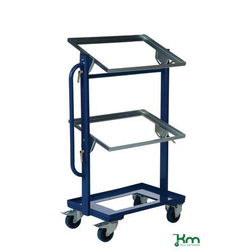 Konga adjustable tray trolley