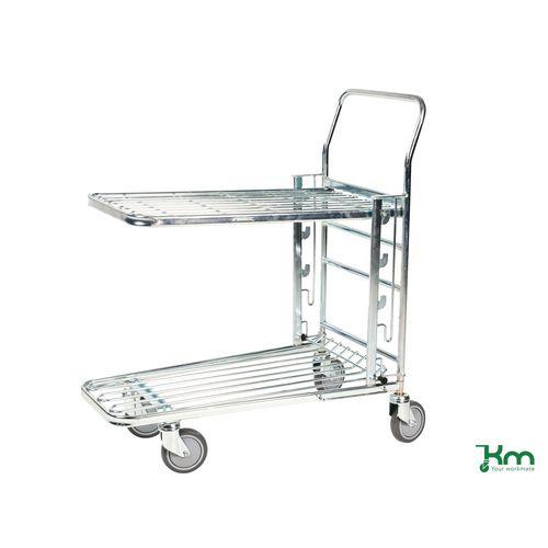Konga adjustable level stock trolley