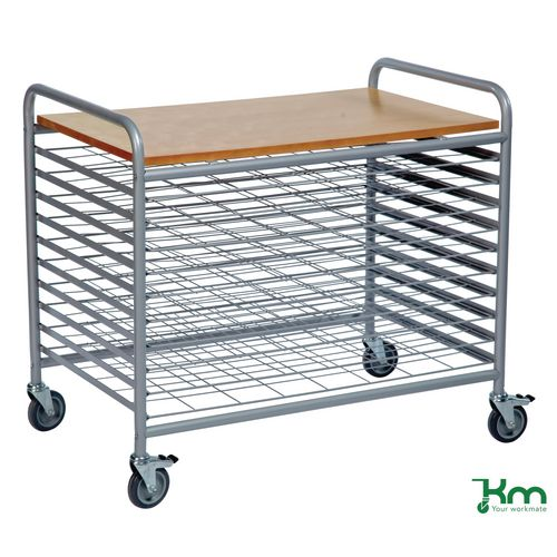 Filing Konga drying trolleys with 10 levels