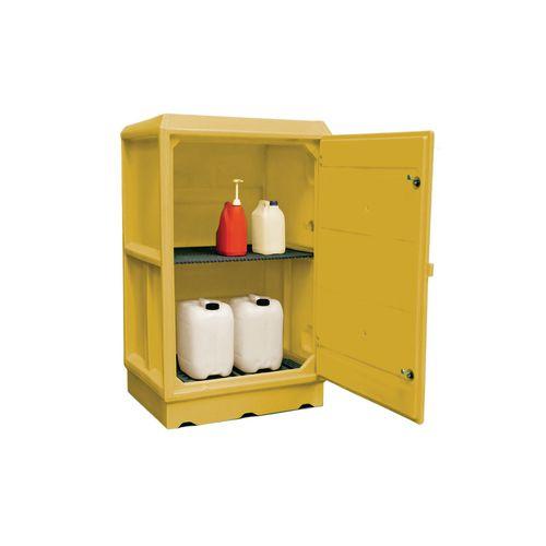 Large plastic hazardous storage cabinets - 100 Litre sump capacity