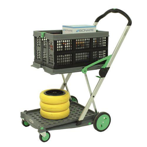 Filing Clax folding trolley, green/grey