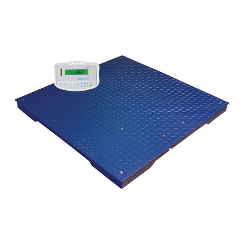 Scales Platform scales with indicator, capacity 1000kg, L x W 1000 x 1000mm