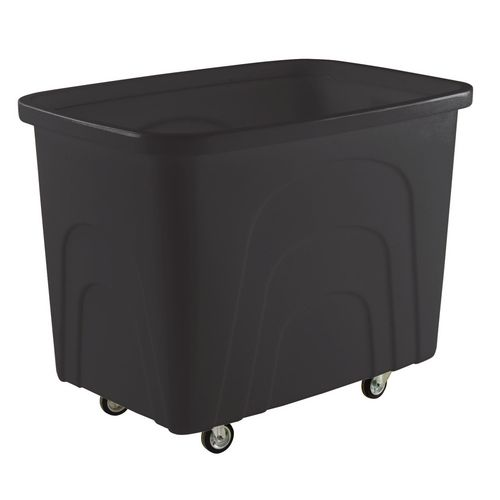Filing Recycled plastic container trucks, recycled black castors in corner pattern
