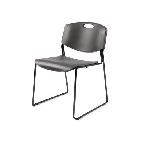 Stacking Chairs MONZA LINKING CHAIR BLACK SHELL BLACK FRAME