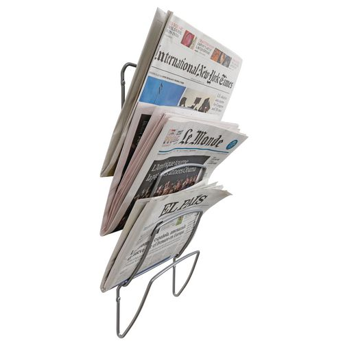 Newspaper rack for office Rotating Wall Mounted Tier Newspaper Rack Slingsby Wall Mounted Tier Newspaper Rack Wall Mounted Literature
