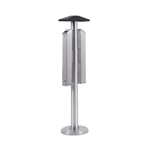 Ash Bins FREESTANDING DOUBLE SIDED  ASHTRAY POST. 1380MM HIGH