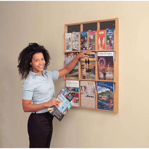 Literature Holders Wall mounted wood literature display