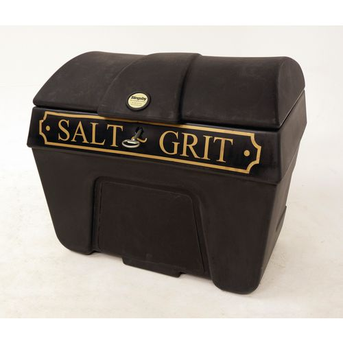Victoriana salt and grit bins - Without hopper feed with locking lid