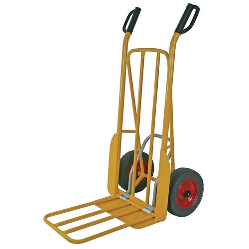 Easy tip sack truck with D shaped hand grips, capacity 250kg
