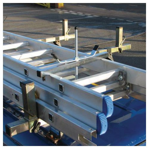 Lockable ladder clamps
