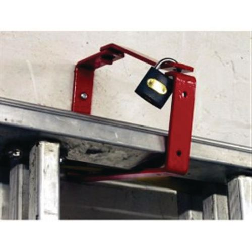 Lockable ladder wall mounting brackets