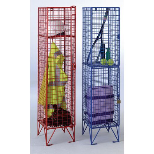 Over 1200mm High Midi-size wire mesh lockers