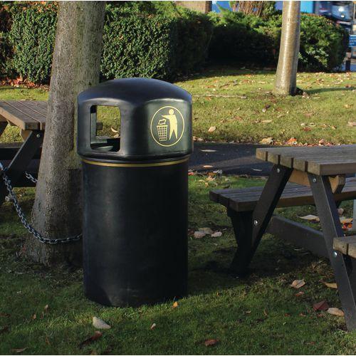 145 litre victorian style litter bin