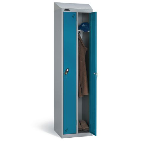 Over 1200mm High Probe twin lockers with sloping top