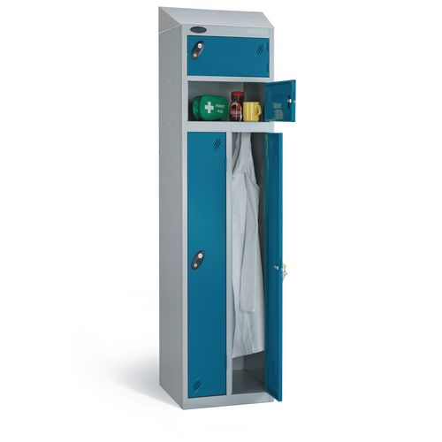 Over 1200mm High Probe two person locker with sloping top