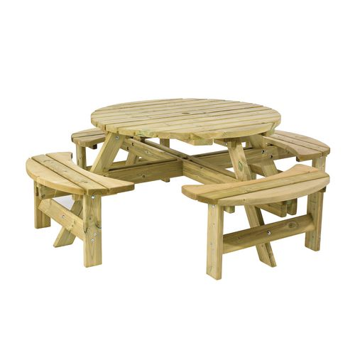 8 seater round picnic bench pressure treated outdoor for 12 seater wooden table