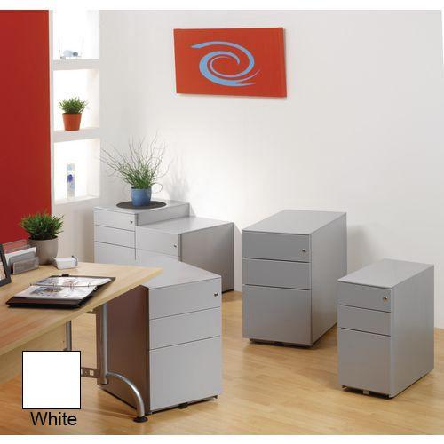 Coloured steel pedestal cabinets - Desk high