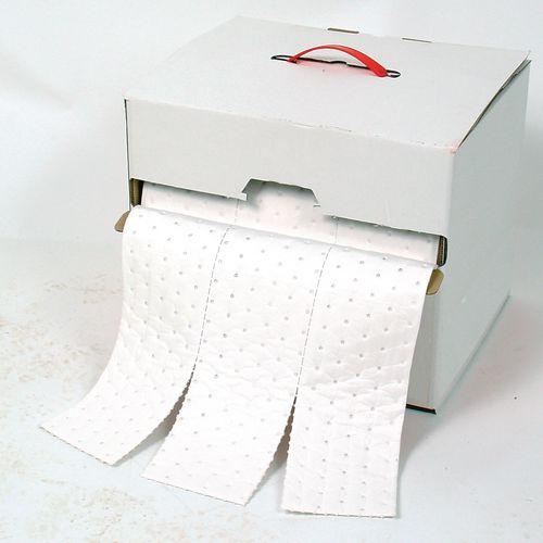 Sorbent dispenser boxes roll, oil & fuel
