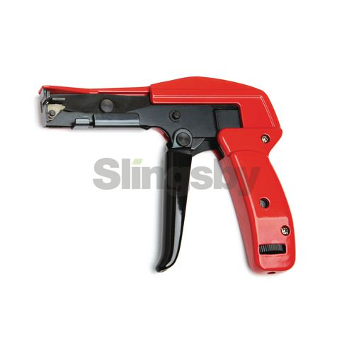 Cable tie gun for plastic ties