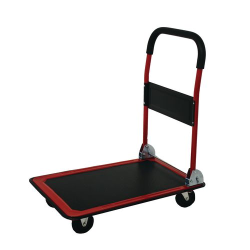 Pressed steel folding platform trolleys