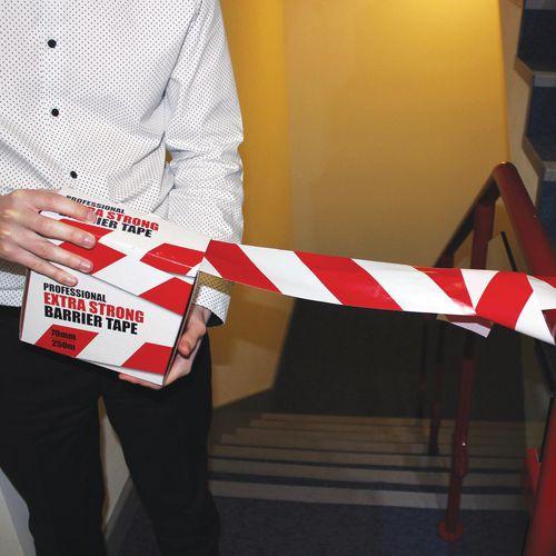 Extra heavy duty barrier tape