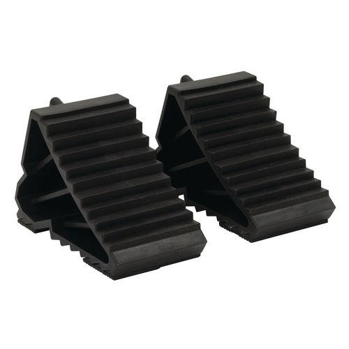 Plastic rubber wheel chocks 0.3kg - set of 2