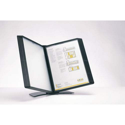 Table Top Display EASY MOUNT A4 DESK DISPLAY  UNIT WITH 10 BLACK POCKETS