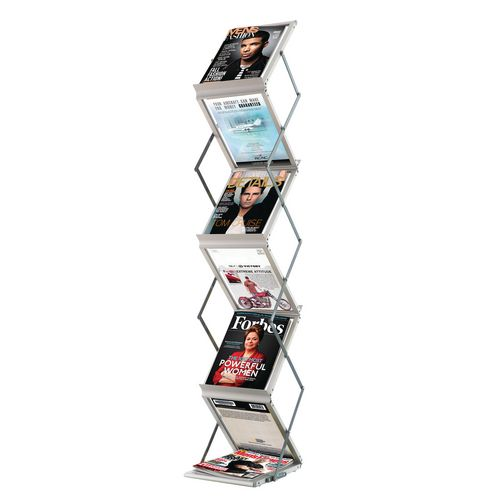 Literature Holders FAST PAPER 6 COMPARTMENT  PORTABLE DISPLAY SYSTEM